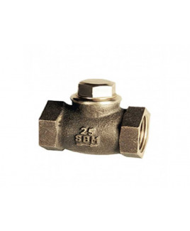 "SBM 3/8""  Bronze Horizontal Lift Check Valve No. 4, IS-318 : 3/8"